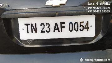 Acrylic Number Plates Manufacturers in Erode, Taminadu